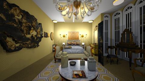 Gold Bedroom 1 - Bedroom - by SammyJPili