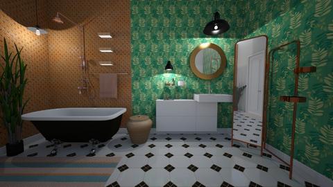 urban jungle retro bath - Retro - Bathroom - by Skyler01