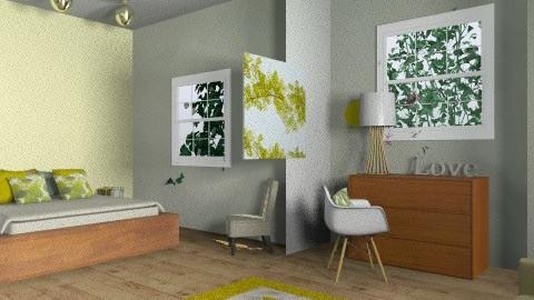 green bedroom - Modern - Bedroom - by rororo