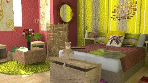 nana - Retro - Bedroom - by lishyliry