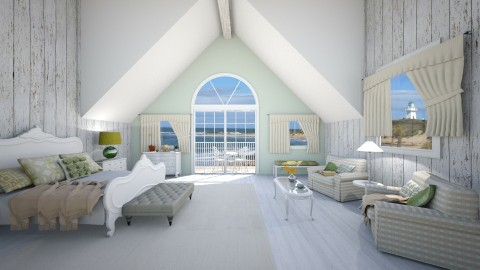 Beach cabin - Classic - Bedroom - by Ali Ruth