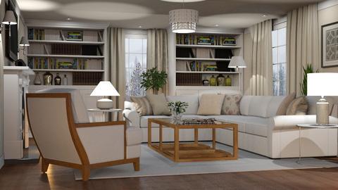 Winter White - Living room - by GraceKathryn