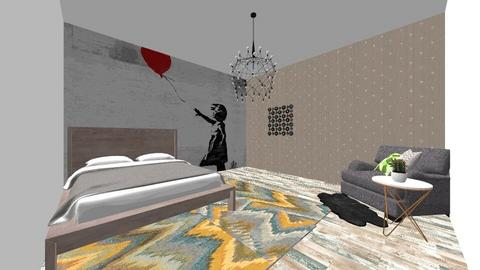 boho bedroom - Bedroom - by absarecool