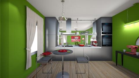 Window Kitchen - Modern - Kitchen - by XiraFizade