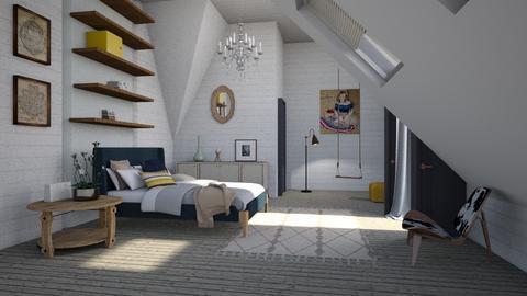 teenage bedroom - Retro - Bedroom - by tolo13lolo