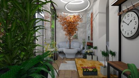 Urban Jungle Hallway - Modern - Garden - by AngieDrws