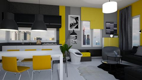 Yellow Liv - Living room - by Eleonor Debus
