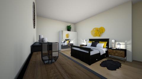 Dark Wood - Minimal - Bedroom - by GeorgiaElle