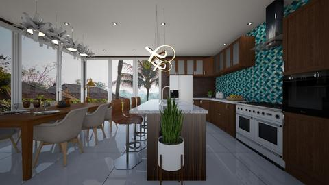 mid century kitchen - Kitchen - by MissREZA