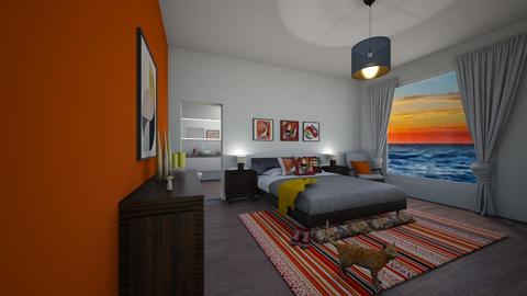 orange seaside - Bedroom - by thompsoni