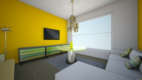Yellow themed - Classic - Living room - by ilovedogs