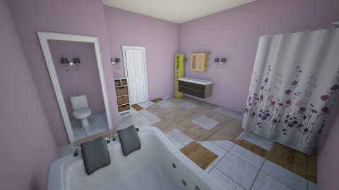 Nice pop of purple - Bathroom - by peachellie