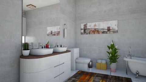 banheiro moderno - Bathroom - by Tainaraa