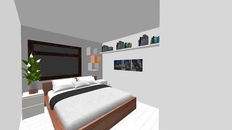 Makuuhuone_Vaakatie - Bedroom - by Emmike