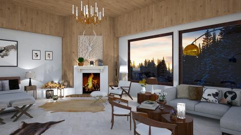 Aspen Chalet Template - Living room - by mari mar