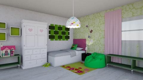 Green and pink room - Kids room - by Perpetto