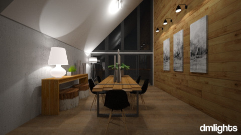Modern dining1 - Dining room - by DMLights-user-1077741