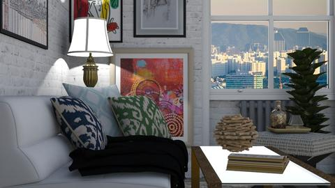 Small Corner Living Room - Living room - by nonanymous_