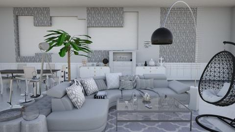 Grey Living - Living room - by designer71034