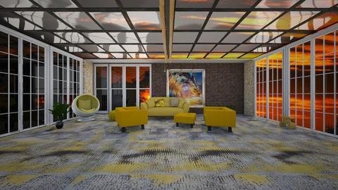 Glass skylight - Living room - by Wildflowers