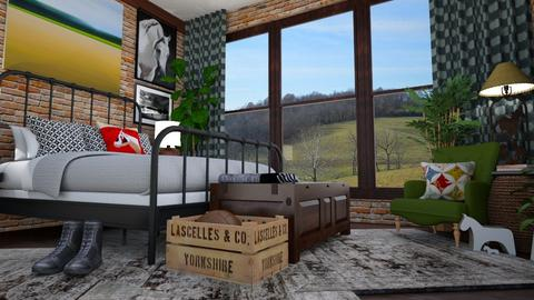 Cowboy Bedroom - Bedroom - by amyskouson