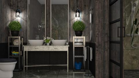 Industrial_Bath - Bathroom - by ZuzanaDesign
