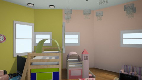 Kid shared room - Kids room - by SilverArrowz