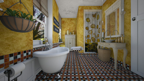 Bohemiam bathroom - Vintage - Bathroom - by liling