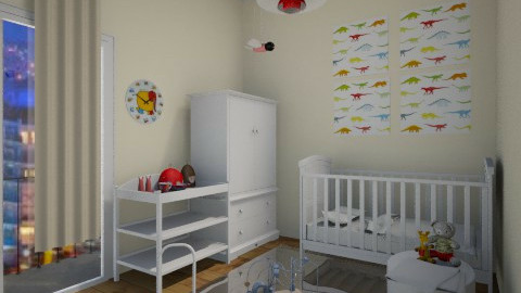 baby room red n whigt - by gogolina