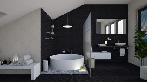 Black - Bathroom - by Senlisa