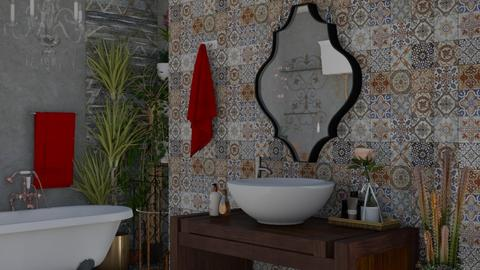 boho bath - Bathroom - by snjeskasmjeska