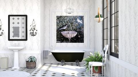 birds bathing - by Bren123