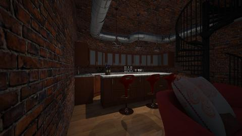 bar - Rustic - Kitchen - by 123Anna