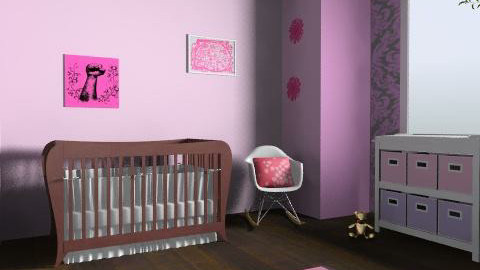 baby girl nursery  - Modern - Kids room - by stasacl21