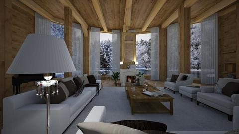 chalet light brown woodnn - Country - Living room - by Nick Burckhard