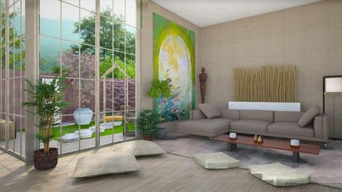 Japanese modern - Modern - Living room - by martinabb