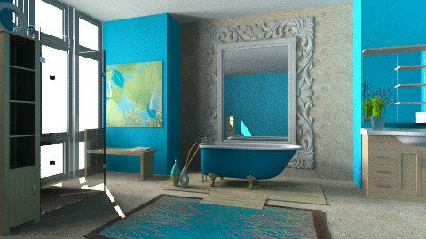 Turquoise Tubroom - Global - Bathroom - by Karenina