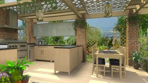 Outdoor Kitchen - Modern - Garden - by Bibiche