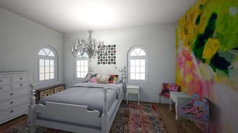 boho flowers - Glamour - Bedroom - by chloe_mccarty
