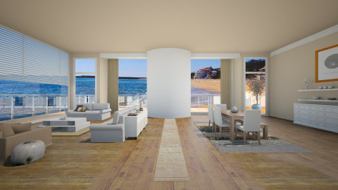 Greek lounge - Modern - Living room - by vesperart