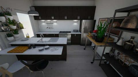 wood - Classic - Kitchen - by frankab