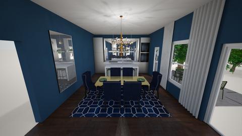 Blue Gold Dining Room 4 - by Snoopp82