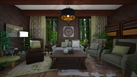 One With Earth - Rustic - Living room - by NiceGoodNoodle