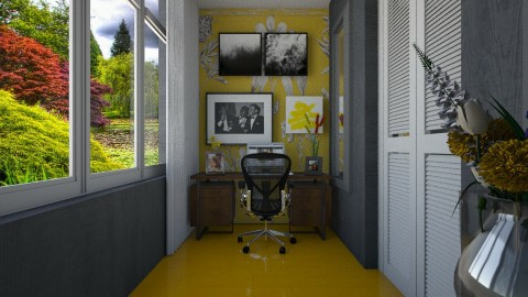 Yellow - Living room - by Maria Helena_215
