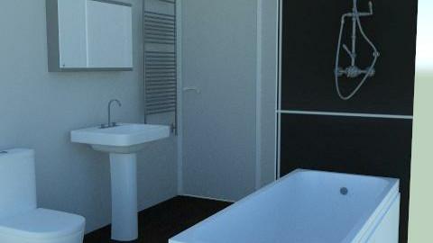 Grey Bathroom Side View - Minimal - Bathroom - by agbr01895