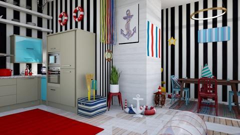 nautical kitchen  - Modern - Kitchen - by zayneb_17