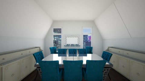 Dining with cool ceilings - Dining room - by thebye