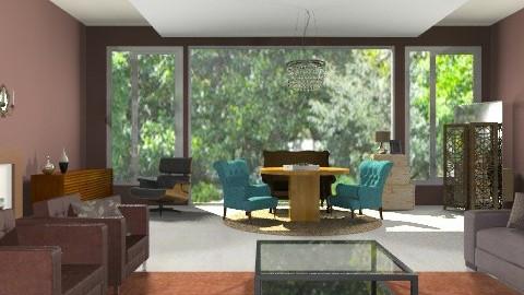 American chocoroom  - Rustic - Living room - by sahfs