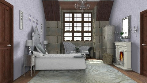 Attic castle bedroom - Eclectic - Bedroom - by alleypea