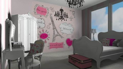 Bonjour Paris - Feminine - Kids room - by lottie21